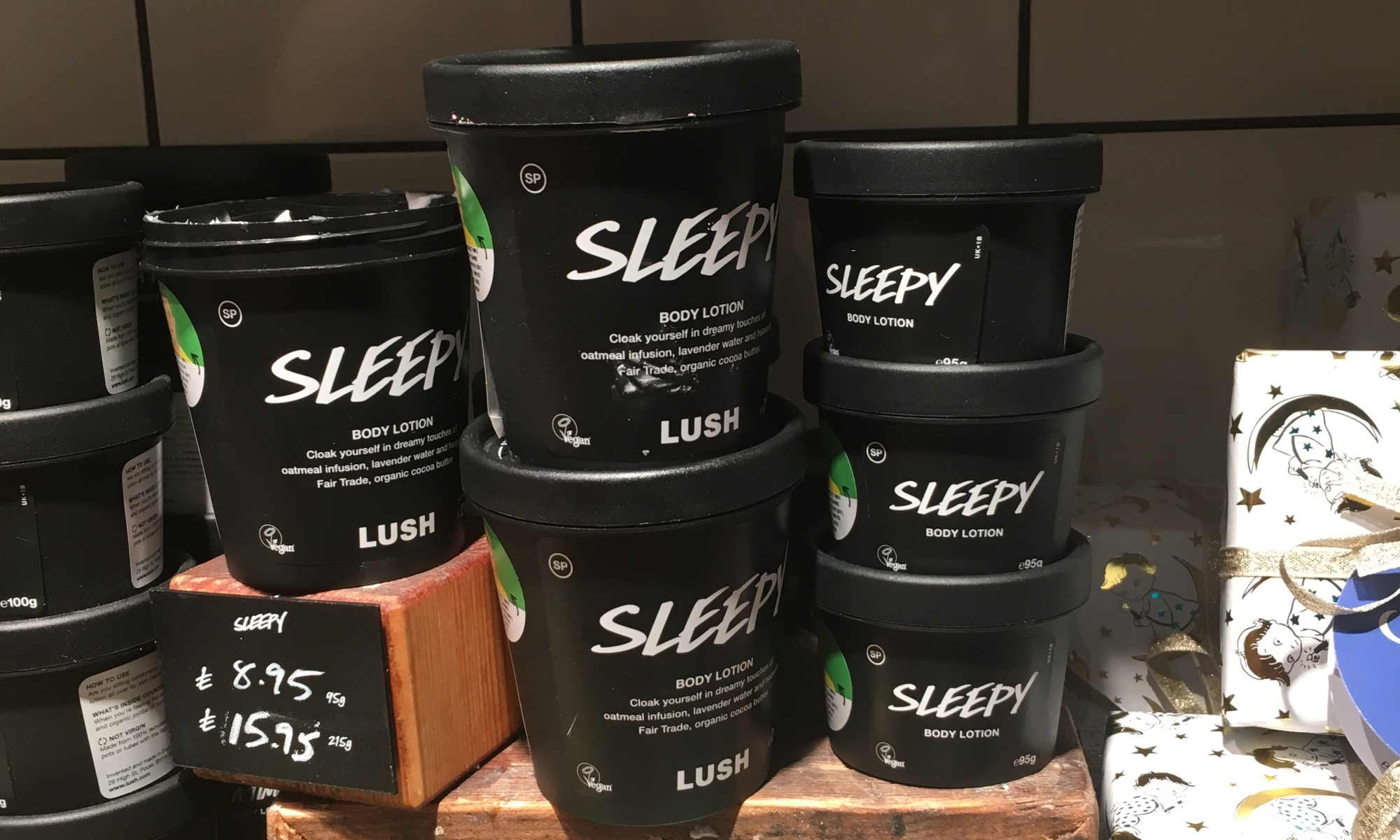 Pots of Sleepy in Lush