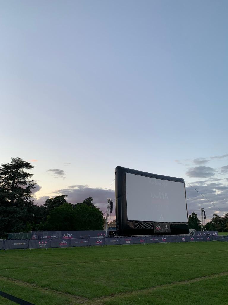 Luna Drive-In Cinema Screen at Blenheim Palace