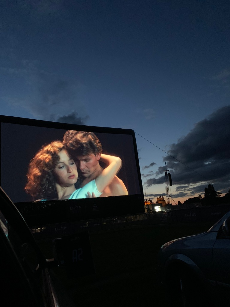 Patrick Swayze and Jennifer Gray in Dirty Dancing at the Luna drive-in cinema