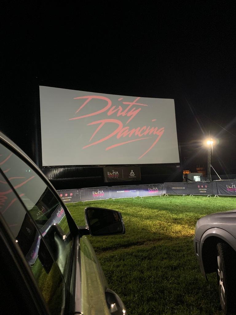 Luna Drive-In Cinema Screen showing Dirty Dancing